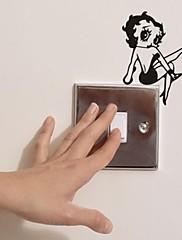 ウォールステッカーウォールステッカーは、現代のセクシーな女の子のポリ塩化ビニールの壁のステッカーを切り替える