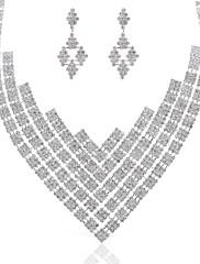 豪華な合金/オーストリアラインストーン♥ウェディング♥ジュエリーセット(ネックレス、ピアス)