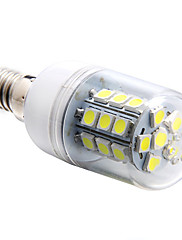 E14 3ワット27x5050smd 270lm 6000  -  6500Kの白色光は、(85  -  265V)トウモロコシの電球を導いた