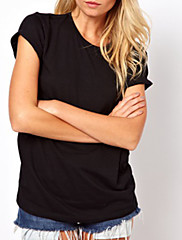 susan.q女性susan.q女性のラウンドネックピアスTシャツ