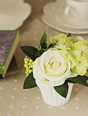 4.75 'h aumentó arreglo floral (blanco)