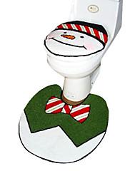Božićni snjegović kupaonica pribor set, 1kom WC sjedalo 1kom kupatilo mat