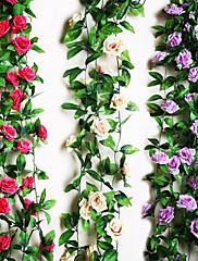 "95""L Nine Beautiful Flowers in Roses Bine 1pc"
