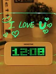 kreativní vývěska světelný sklo elektronický alarm clock