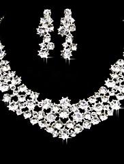 parure de bijoux en alliage et strass