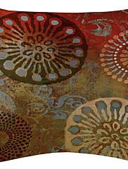 crveni cvjetni disk baršun dekorativne jastučnicu