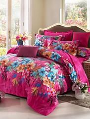 poplun cover set, brušenje 100% pamuk posteljinu 4pcs duvet popluni tješi cover plahte posteljinu jastučnicu seta