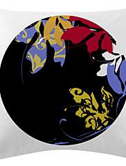 cvjetni crni disk baršun dekorativne jastučnicu