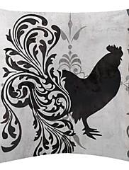 crno-bijeli pijetao uzorak baršuna dekorativne jastučnicu