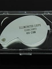 40x25金属LEDライトジュエリールーペ