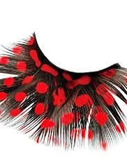 nádherné červené puntíky peří karnevalové řasy