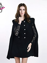 haoduoyi® Women's Double Breasted Vest Cloak Coat