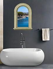 3D samolepky na zeď na stěnu, řeka koupelna výzdoba nástěnná pvc samolepky na zeď
