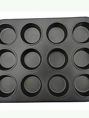 ケーキパンタルト用の金型を焼く耐熱皿高品質炭素鋼12ホール