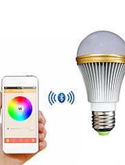 IOS / Android用E27 5ワットカラフルな光のBluetoothスマートLEDランプの電球 - 白+シルバー(AC 85〜240V)