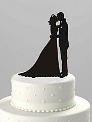primeros de la torta par de acrílico clásico dulce amor de la torta