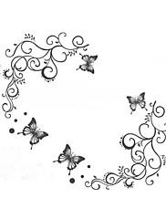 klasická černá květina umění zdi pro společenské révy na stěnu zooyoo051s DIY dekorační samolepky domácí dekorace