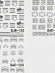 カートゥン/抽象画/かわいい/パンク - フィンガー - 3Dネイルシール - 10*8*1 CM