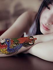 orientální příznivé bůh pták fénix tetování samolepky dočasné tetování (1 ks)