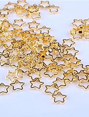 中空ゴールドスター合金ネイルアートの装飾10個入り