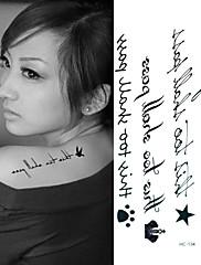english dopis vedení tetování samolepky dočasné tetování (1 ks)