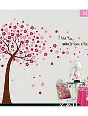 barevné květiny strom pro dětský pokoj Lepicí obraz na stěnu zooyoo9026 dekorativní odstranitelné PVC stěna nálepka