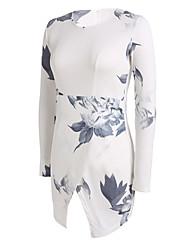 Sexy/Plážové/Grafika/Párty kulatý tvar - Bez rukávů - ŽENY - Dresses ( Polyester )