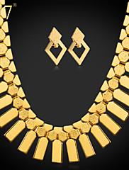 Vintage/Slatko/Zabava/Posao/Ležerne prilike - Žene - Ogrlica/Naušnica ( Legure/Pozlata od platine/Pozlaćeni nakit )