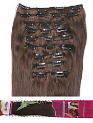 ibeshion cenově 180g 10ks 26 klipů přímo klip v lidských prodlužování vlasů # 1b # 2 # 4 # 6 brazilský remy vlasy
