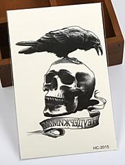 8ks hot dočasné tetování vodotěsný sexy armhand tetování body art / vrána vs lebky / big falešnými tetování samolepky