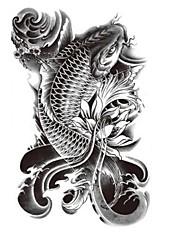 8ks dočasné tetování náramek / ryby vs voda vs květ / vodotěsné velké velikosti falešná tetování nálepka umění / pásek na ruku, stopka,