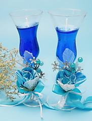 シャンパングラス☆キャンドル☆ブルー(2個セット)