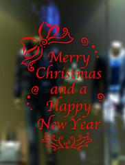 samolepky na zeď lepicí obrazy na stěnu ve stylu Veselé Vánoce a Šťastný Nový Rok PVC okna nálepky