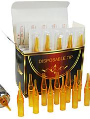 fttattoo® 10 krabic krátké tipy pro tetování trysky jednorázové širým pomerančový 500ks u pick velikosti
