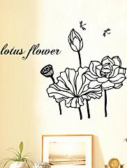 植物の / カートゥン / ファッション / ファンタジー ウォールステッカー プレーン・ウォールステッカー , Vinyl stickers 57*36cm
