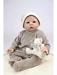 npkdoll生まれ変わった赤ちゃん人形柔らかいシリコーン22inchの55センチメートル磁気口本物そっくりのかわいい素敵なおもちゃの男の子グレー