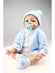npkdoll生まれ変わった赤ちゃん人形柔らかいシリコーン22inchの55センチメートル磁気口美しいリアルなかわいい男の子の女の子のおもちゃ青の衣装