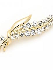 女性 ブローチ ラインストーン 模造ダイヤモンド 合金 ファッション 高級ジュエリー シルバー ゴールデン ジュエリー 結婚式 パーティー 誕生日 日常 カジュアル