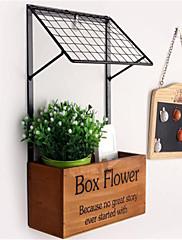 ファッションの装飾工芸品の棚木製のキッチン収納壁の花の棚