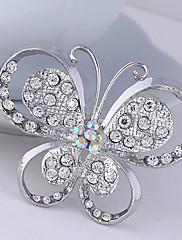 dámské crystal motýl zvíře brož pro svatební party dekorace šátek, jemné šperky, náhodné barvy