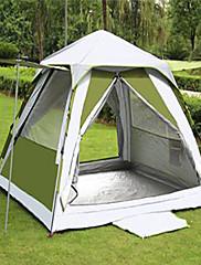 / 3-4人 テント ダブル 自動テント 1つのルーム キャンプテント 通気性 抗紫外線 防雨-キャンピング-アーミーグリーン