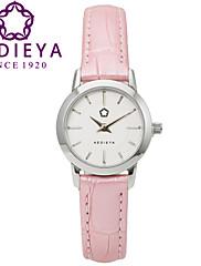 Dámské Módní hodinky Křemenný Japonské Quartz Voděodolné Kůže Kapela Růžová Značka KEDIEYA