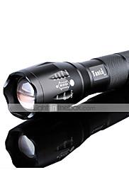 Osvětlení LED svítilny LED 1200 lumens Lumenů 5 Režim Cree XM-L2 18650 / AAANastavitelné zaostřování / Dobíjecí / Odolný proti nárazům /