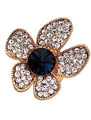 Prsteny s kamenem Křišťál Růže pozlacená Slitina Zlatá Tmavomodrá Stříbrná + černá Šperky Svatební Párty Denní Ležérní 20pcs