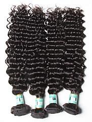 人間の髪編む ペルービアンヘア ウェーブ 18ヶ月 4個 ヘア織り