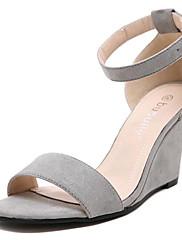 Ženske cipele-Sandale-Aktivnosti u prirodi / Ležerne prilike-Flis-Puna potpetica-Pune pete / Štikle-Crna / Siva
