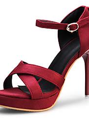 Žene Proljeće Ljeto Jesen Ravne platformke Umjetna koža Formalne prilike Zabava i večer Stiletto potpetica Platforma Crna Crvena Boja vina