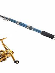 テレスピンロッド 釣り竿 + リール 釣り竿 テレスピンロッド カーボン 291 M 海釣り 釣り竿 + リール ダークブルー