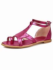 Ženske cipele-Sandale-Aktivnosti u prirodi-Svila-Ravna potpetica-Salonke s T-remenom / Udobne cipele / Sandale s remenom oko palca /