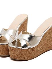 Ženske cipele-Sandale / Papuče-Aktivnosti u prirodi / Ležerne prilike-Umjetna koža-Puna potpetica-Pune pete / Štikle-Crna / Bijela /